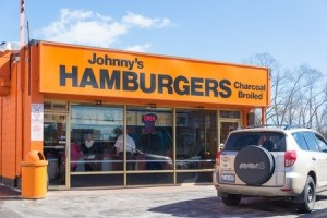 The small family owned neighborhood private business selling hamburguer